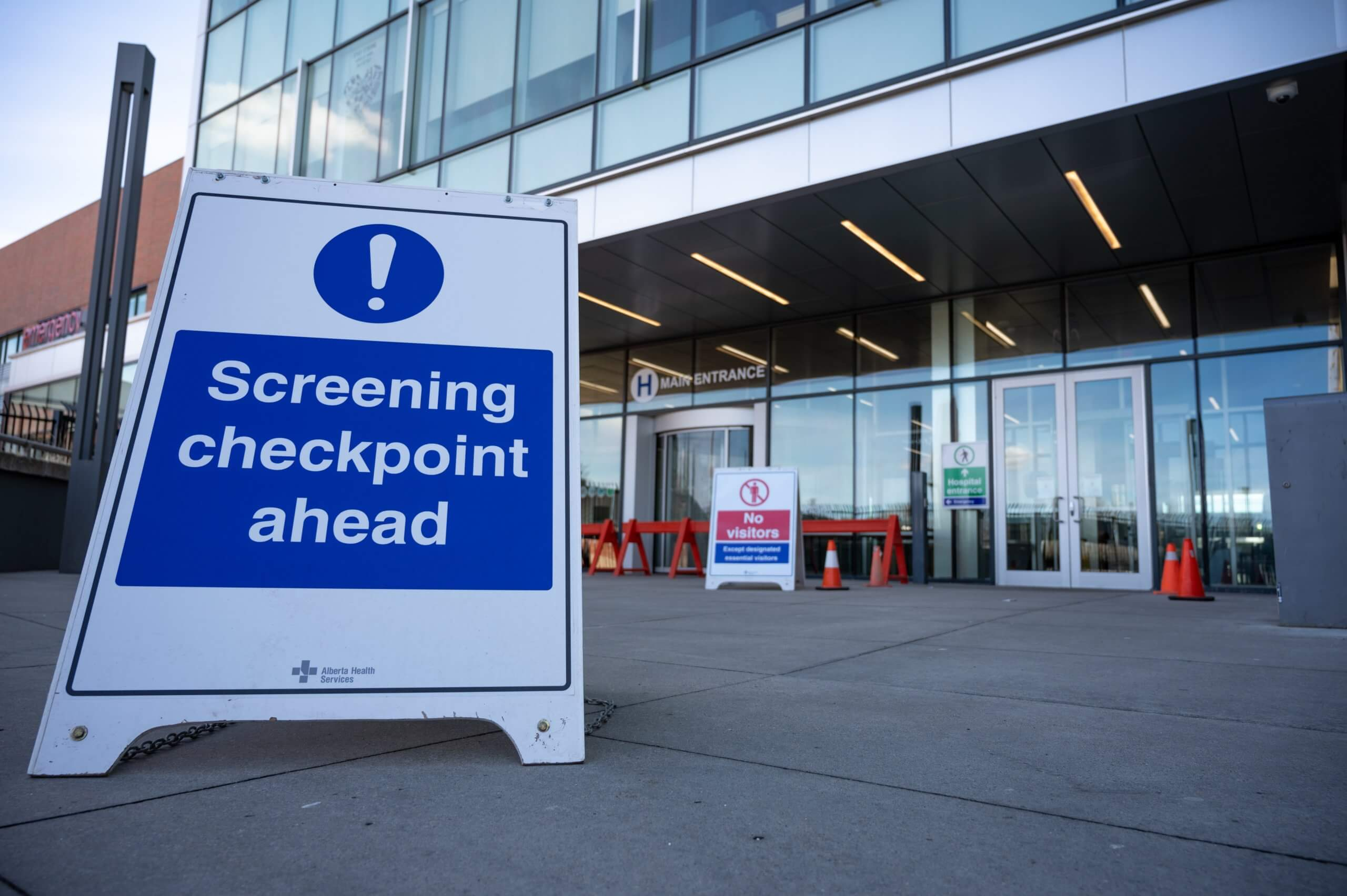 covid screening checkpoint