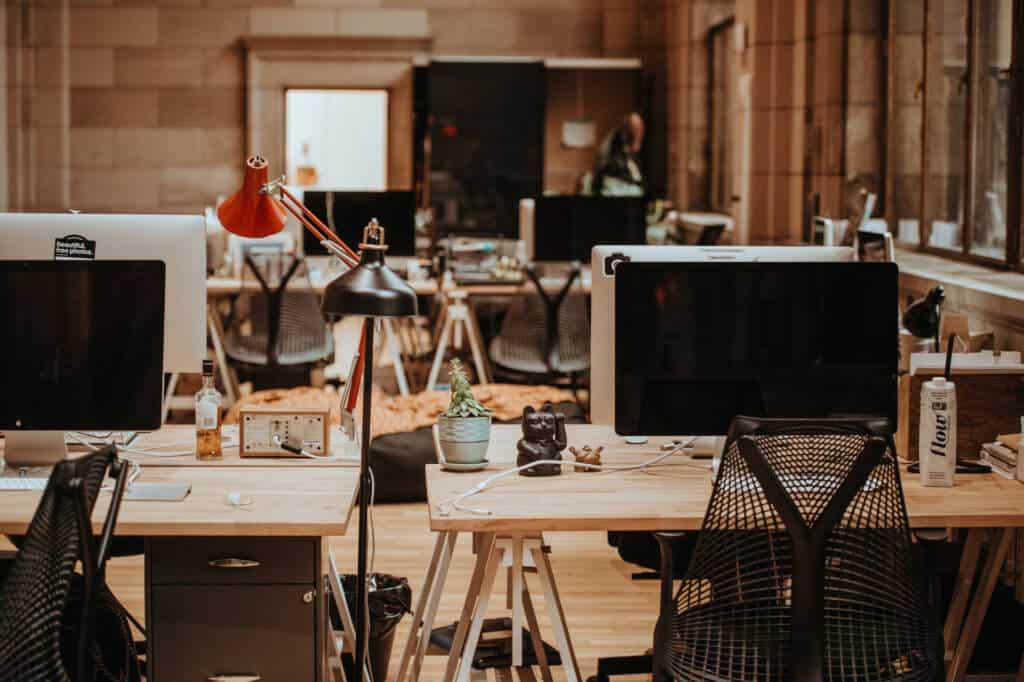 reservable office hoteling desks