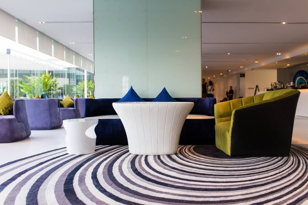 Seating area in office space